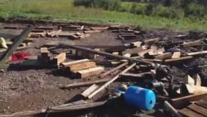 Tornado damage to Waywayseecappo First Nation