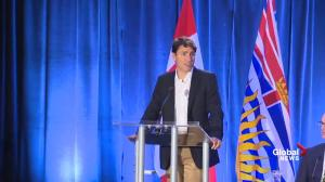 PM Trudeau thanks first responders who are battling BC wildfires
