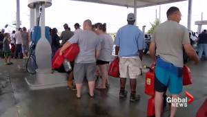 Hurricane Florence: Long lines at gas stations as storm continues to hammer Carolinas