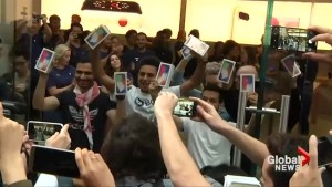 Apple's ultra-expensive iPhone X goes on-sale as delirious fans wait hours to get one