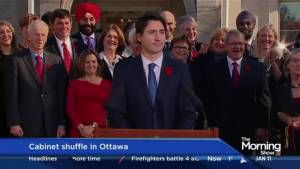 Trudeau shuffling his cabinet ahead of Trump's inauguration