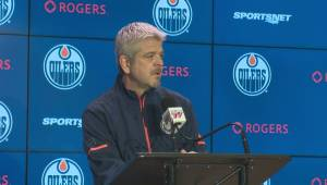 Oilers coach speaks about Humboldt Broncos athletic therapist Dayna Brons
