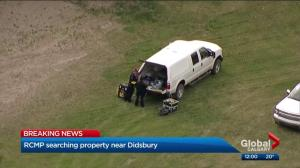Large police presence as RCMP search rural property near Didsbury