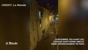 People flee Paris theatre during attack caught on video