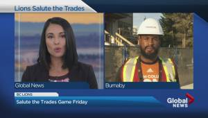 BC Lions hold annual Salute to the Trades game