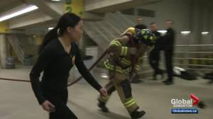 Edmontonians get chance to see if they're fit to be a firefighter