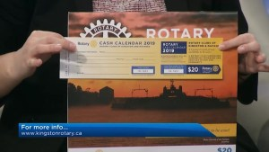 The Rotary Club of Kingston showcase their 2019 rotary cash calendar