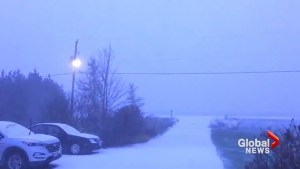 Lightning lights up snowy skies as winter storm hits Ottawa