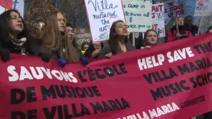 Villa Maria students march to save music program