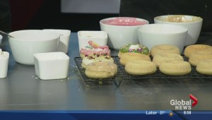 Making Moonshine doughnuts on the Morning News