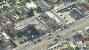 Los Angeles police respond to reported shooting allegedly involving Nipsey Hussle, two others