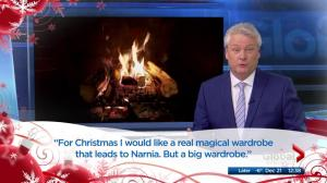 Global Edmonton anchors read kid's letters to Santa