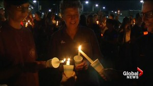 Hundreds gather at University of Virginia for candlelight vigil against hate and violence