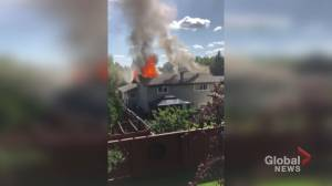 Viewer video shows Calgary house on fire in Deer Run