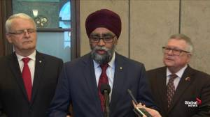 Harjit Sajjan: Flood situation is improving in New Brunswick (01:11)