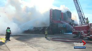 Fire breaks out at historic hotel in Wetaskiwin