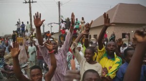 Celebrations erupt across Nigeria as opposition wins presidential election