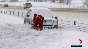 Wintry blast of weather leads to treacherous conditions on Alberta highways
