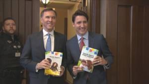 Federal Liberals deliver budget (02:04)