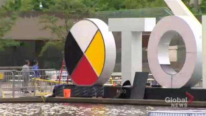 Toronto sign changed to honour Indigenous Peoples Day
