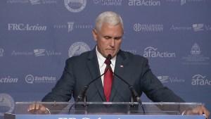 Mike Pence denounces Hillary Clinton 'basket of deplorables' comment