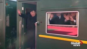 North Korea leader Kim Jong Un departs for Hanoi