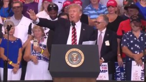 Trump tries to rewrite history when recounting his comments on Charlottesville during Arizona rally