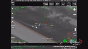 Winnipeg police chopper tracks high speed chase on north Perimeter Hwy