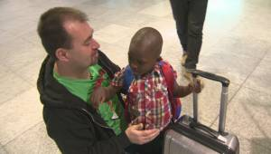 Young Congolese boy about to start new life in B.C.