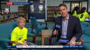 Global News Weather School: Jordan Witzel visits Falconridge School