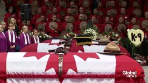 Three fallen RCMP officers honoured by thousands at Moncton Coliseum