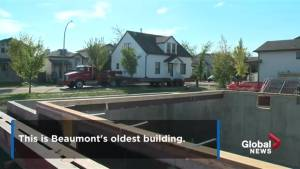 106-year-old Beaumont house moved to new location