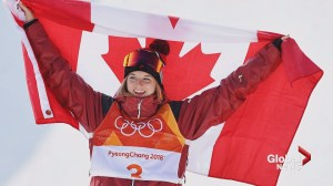 Olympic halfpipe champion Cassie Sharpe pays tribute to the late Sarah Burke