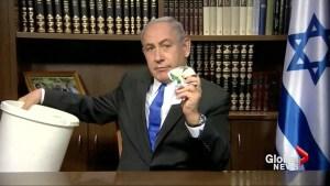 Netanyahu calls Hamas document a lie, tosses it into waste bin
