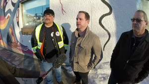 Nemeth family thanks Bear Clan Patrol for help with homemade meal