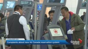 Air Canada's new reservation system glitching (02:18)