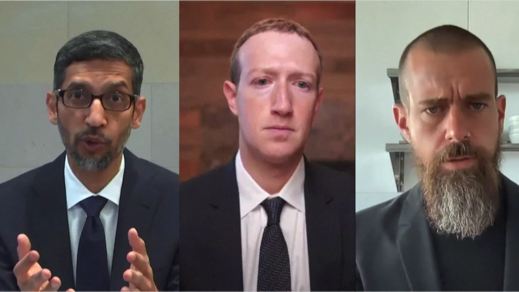 Click to play video: 'Big Tech CEOs testify on spread of misinformation, extremism online before Congress'