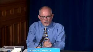 Ontario's top doctor says health-care settings can mandate COVID-19 vaccine for workers if they haven't achieved high enough rate (01:20)