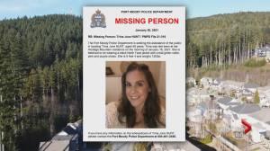 Virtual vigil held for missing Port Moody woman (02:01)