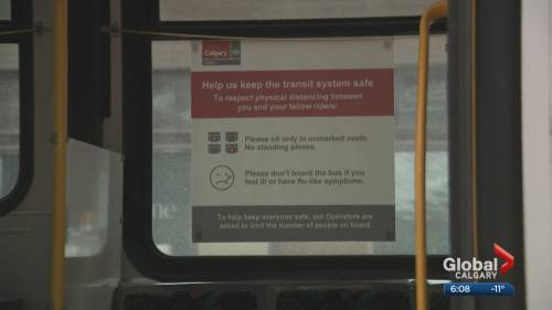 More changes to Calgary Transit as coronavirus pandemic continues | Watch News Videos Online