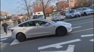 Driver-less Tesla turns heads at Richmond Mall