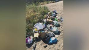 Piles of trash left on Vancouver's Wreck Beach (00:36)