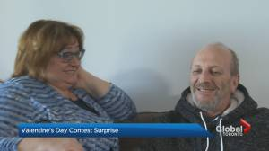 Anthony Farnell surprises married couple in Global News Valentine's Day contest