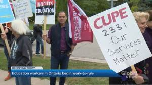 Ontario education workers begin work-to-rule Monday