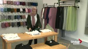 Edmonton modest clothing line, store Afflatus Hijab caters to all walks of life (01:45)