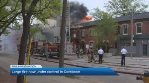 Fire breaks out in Toronto's Corktown neighbourhood