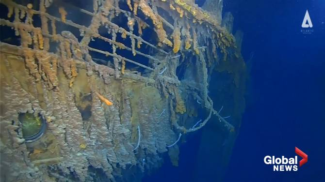 First Titanic images in 14 years show a rapidly-decaying wreck