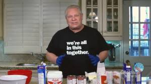 Premier Ford showcases his baking talents