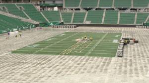 Crews begin flipping Mosaic Stadium for NHL Heritage Classic
