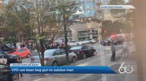 Vancouver police deploy beanbag gun during Crosstown arrest